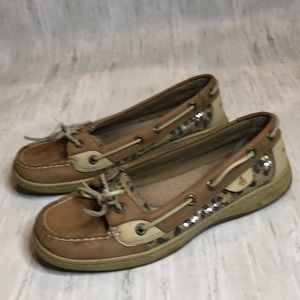 Leopard print Sperry boat shoes.  Size 7.5.